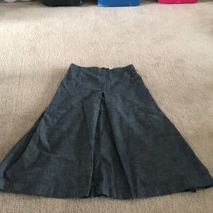 J Crew Modest denim skirt Sz 4